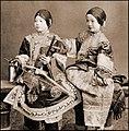 Singing Girls, Hong Kong, China (c1901) Benjamin W. Kilburn Co. (RESTORED) (4088034587).jpg