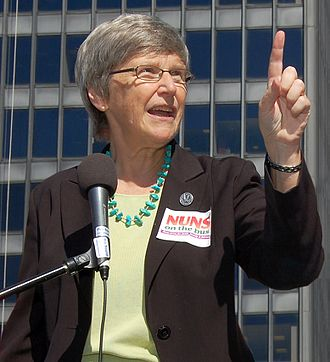 """Simone Campbell - Sister Simone in 2012 with """"Nuns on the Bus"""""""