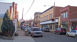 Sistersville, West Virginia - Wells Street in downtown Sistersville in 2006