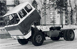 Cab over - 1962 presented Sisu KB-112/117 was the first European serial produced truck with a hydraulically tiltable cabin, enabling an easy access to the engine.