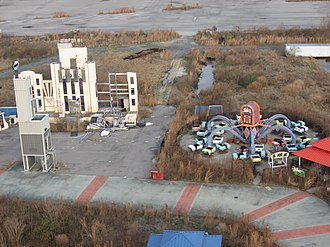 DC Comics Super Hero Adventures - Gotham City Hall and Joker's Jukebox after Hurricane Katrina.