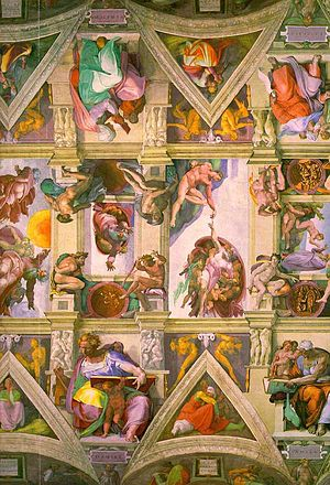 Nederlands: Plafondschildering Sixtijnse Kapel...