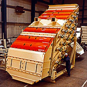 Mineral processing - Sizer 2000 for screening coarse to small particles