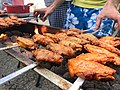 Skewer with marinated chicken wings bbq barbeque.jpg