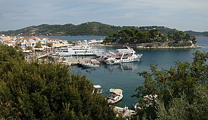 Skiathos - View of the harbour of Skiathos Town