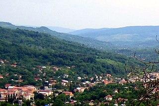 Slănic Town in Prahova, Romania