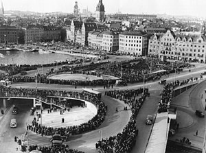 Cloverleaf interchange - Image: Slussen 15 10 1935