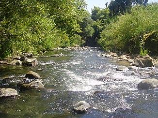 Der Fluss Hasbani in der Huleebene
