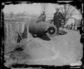 Soldiers in a cannon, Rodgers Battery, Alexandria, Va - NARA - 529249.tif