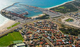 Sorrento, Western Australia - Sorrento and Hillarys from the air
