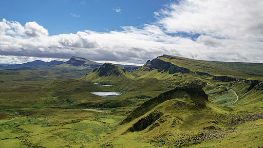 South over the Quiraing, Isle of Skye Scotland