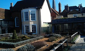 Tudor House and Garden - Tudor House's Garden, February 2013