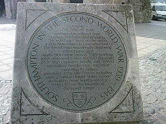 Holyrood Church - Southampton in the second world war