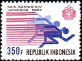 Southeast Asian Games 1987 stamp of Indonesia 3.jpg