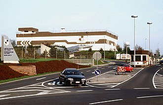 Spangdahlem Air Base - Spangdahlem Air Base main gate in 1998