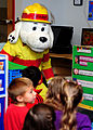 Sparky the fire dog visits children at Joint Base Langley-Eustis, Va., during Fire Prevention Week hosted by the 633rd Civil Engineer Squadron Oct. 10, 2013 131010-F-IT851-004.jpg