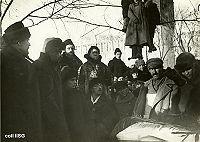 Oradores en el funeral: Goldman, Baron, Maximov y Berkman