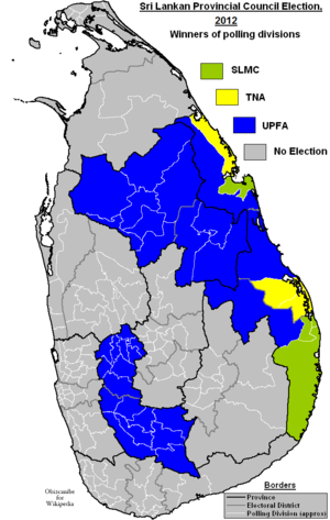 Sri Lankan provincial council elections, 2012 - Image: Sri Lankan Provincial Election 2012