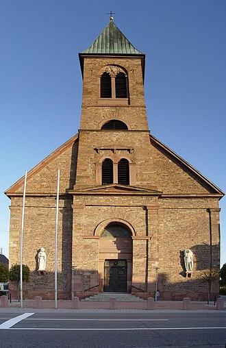 Durmersheim - The church of St. Dyonis.