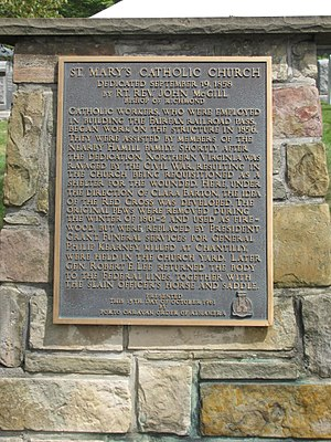 Fairfax Station, Virginia - St. Mary's plaque