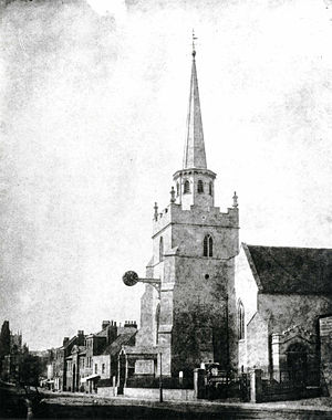 St Giles' Church, Reading - St Giles' Church, 1840-1849 by William Fox Talbot