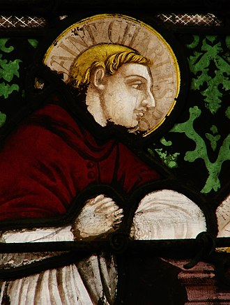 Charles Borromeo - Depiction of Charles Borromeo in a stained glass window.