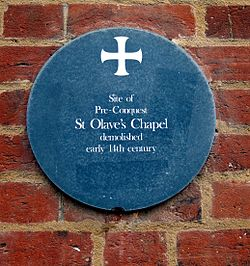 Photo of St Olave's Chapel, Norwich grey plaque