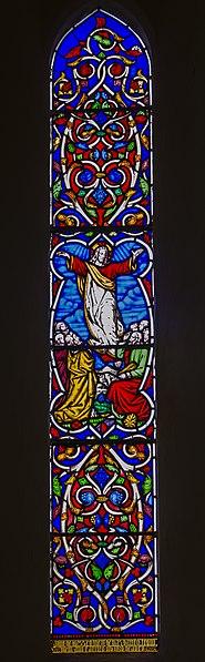 File:Stained glass window, Ss Peter & Paul church, Peasmarsh (15815921738).jpg