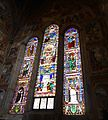Stained glass window of S. Maria Novella in Florence.JPG