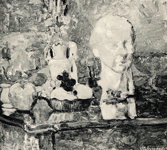 File:Stanisław Szczepański, Martwa natura z rzeźbą, 1954.jpg