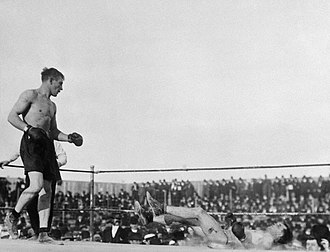Stanley Ketchel - Ketchel standing over a downed Billy Papke during their third fight