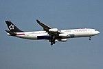 Star Alliance (Air Canada) Airbus A340-313 C-FYLD (26528984573).jpg