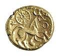 Stater van de Nerviërs in goud, 60 tot 50 VC, vindplaats- Vechmaal, Bornebeemden, collectie Gallo-Romeins Museum Tongeren, GRM 9273, 009.jpg