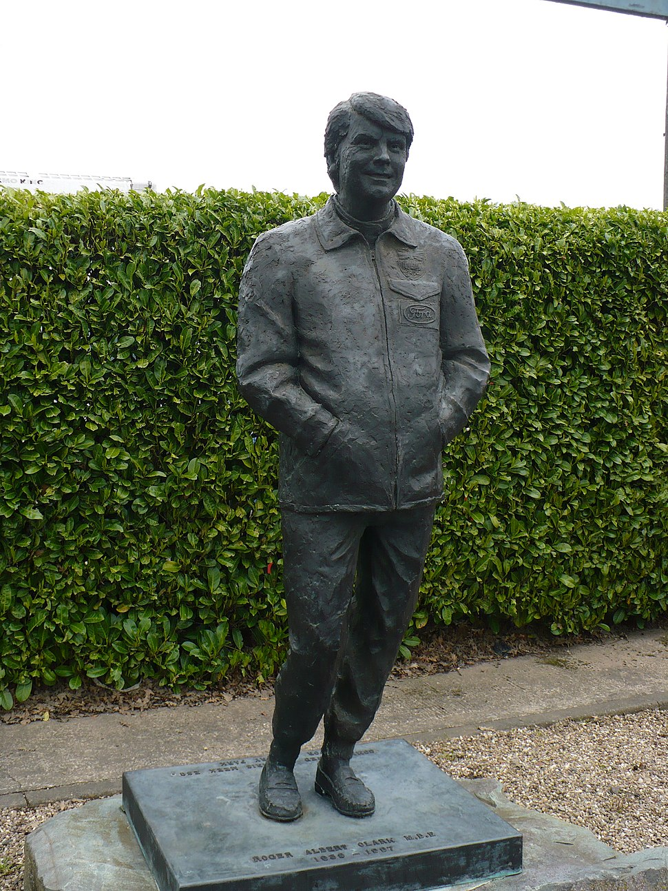 Statue of Roger Clark at Mallory Park 001