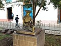Statuo de sidanta indianino en placo Santa Catalina (Kusko).jpg