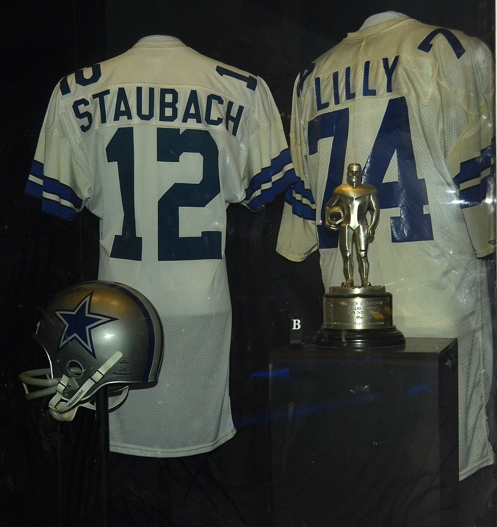 Staubach and Lilly HOF jerseys