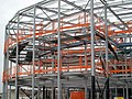 Steel frame to new school complex. - geograph.org.uk - 539951.jpg