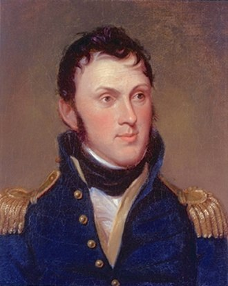 Stephen Harriman Long - Representation of 1819 oil painting of Major Long. Portrait painted by Charles Willson Peale