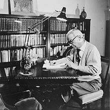 Man sitting at his desk