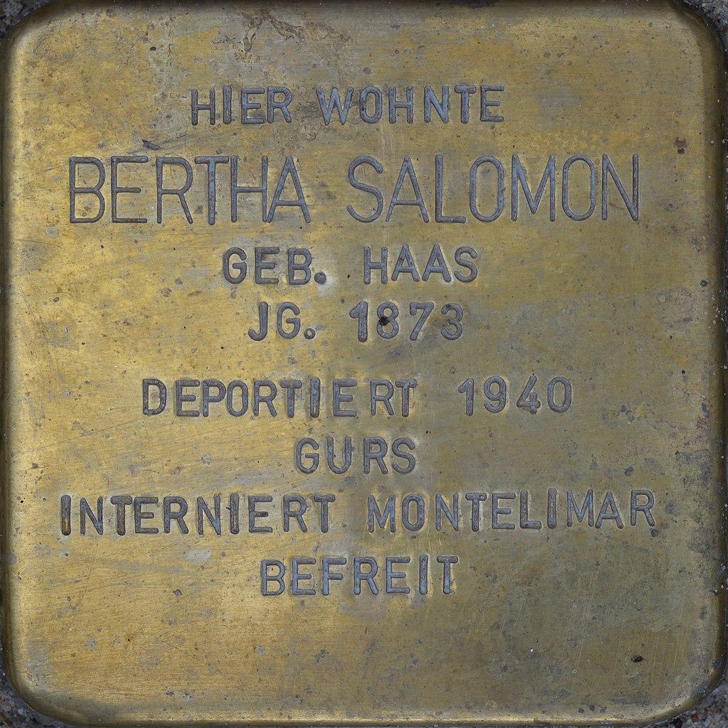 Stolperstein - Salomon, Bertha (2016).jpg