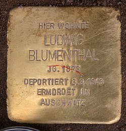 Photo of Ludwig  Blumenthal brass plaque