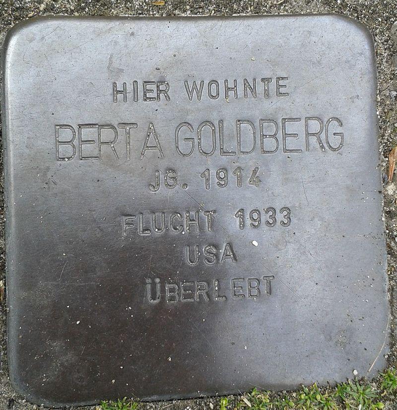 Stolperstein Datteln Carl-Gastreich-Straße 5 Berta Goldberg