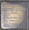 Stolperstein Ingeborg Schwarz, Düsseldorf, Am Wehrhahn 5 ( jetzt Am Wehrhahn 1).jpg