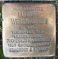 Stolperstein Kurt-Schumacher-Allee 10 (Ludwig Wellhausen) in Hamburg-St. Georg.JPG