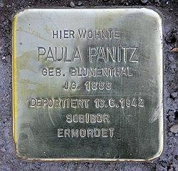 Photo of Paula Panitz brass plaque