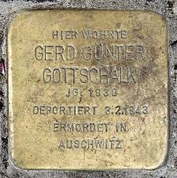 Photo of Gerd Günter Gottschalk brass plaque