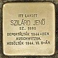 Stolperstein für Jenö Szilard (Nyíregyháza).jpg