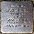 Stolpersteine Köln, Marta Henle (Redwitzstraße 87).jpg