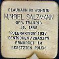 Stolpersteine Köln Blaubach 80 Mindel Salzmann.jpg