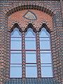 Stralsund, Germany, Rathaus, Fenster zum Markt mit Wappen Stralsunds (2006-09-29).JPG